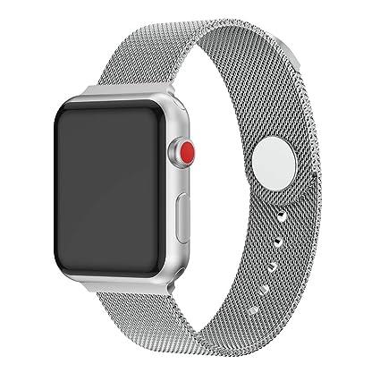 XIHAMA Correas Compatible con Apple Watch de 44 mm / 40mm / 42mm / 38mm, Correa de Acero Inoxidable para iWatch Serie 5 Serie 4 Serie 3 Serie 2 Serie ...