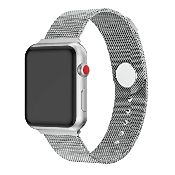 XIHAMA Correas Compatible con Apple Watch de 44 mm / 40mm / 42mm / 38mm, Correa de Acero Inoxidable para iWatch Serie 5 Serie 4 Serie 3 Serie 2 Serie ...
