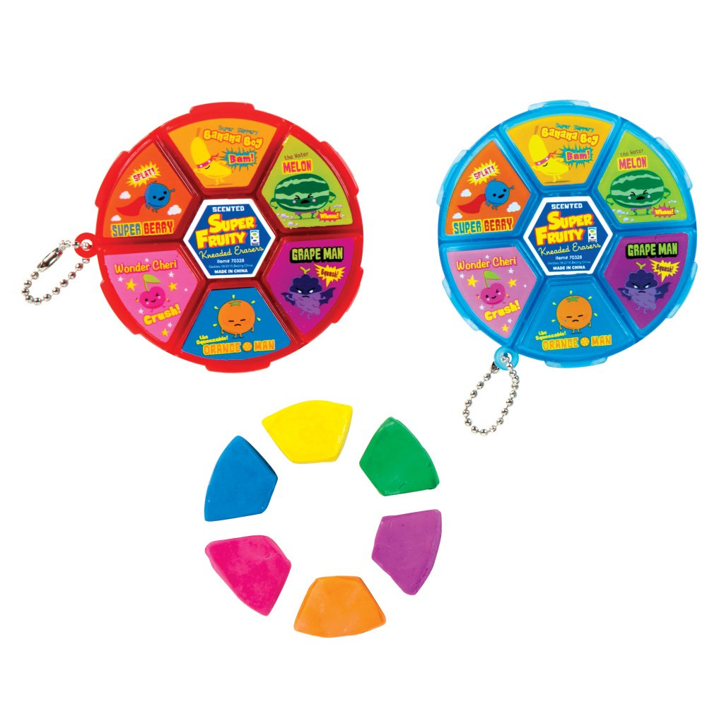 Raymond Geddes Super Fruity Kneaded Scented Wheel 12/Bag Eraser (70328)