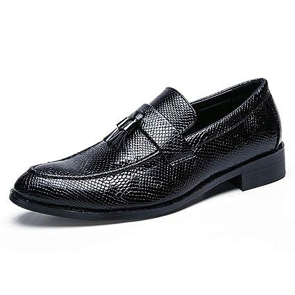 Fang-shoes, 2018 Zapatos Hombre, Patrón de Piel de Serpiente para Hombres con