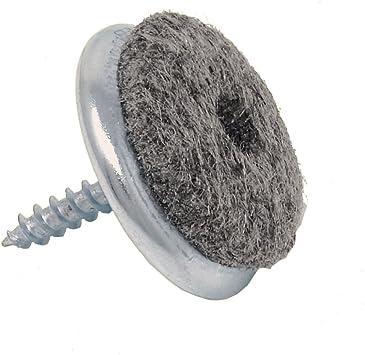 Filzgleiter zum Schrauben 100 Stück Möbelgleiter für Parkett 24 mm Stuhlgleiter