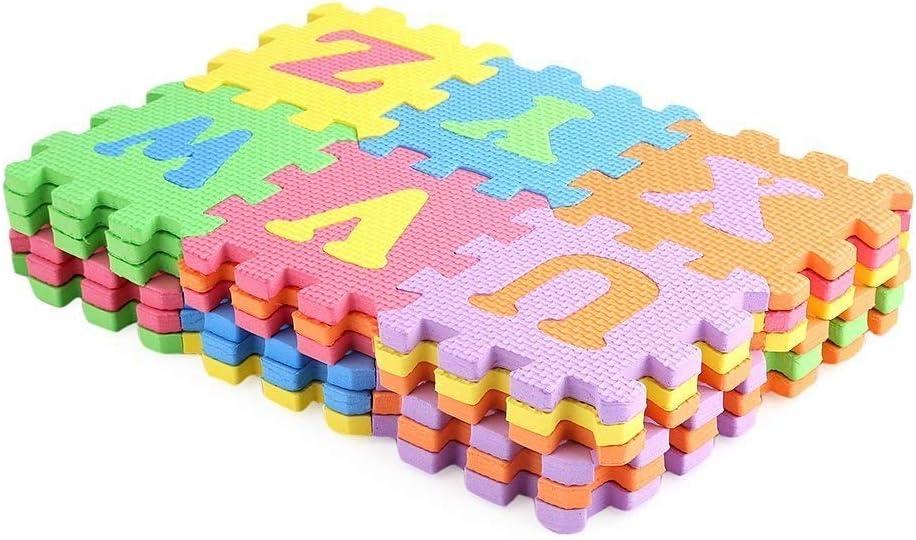 aprendizaje Abecedario Número Puzle rompecabezas alfombra Letras Esponja Suelo SEGURO 36pcs Alfombra Juegos Para Niños Niños RU Por Wedding Decor (GRAN TAMAÑO)