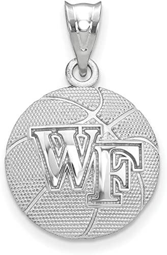Solid 925 Sterling Silver Official North Carolina State University Medium Pendant Charm 22mm x 11mm