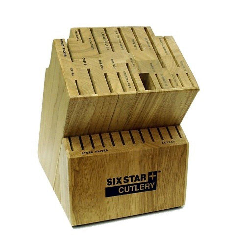 Ronco KN300100GEN Six Star+ 30-Slot Wooden Knife Block Holder