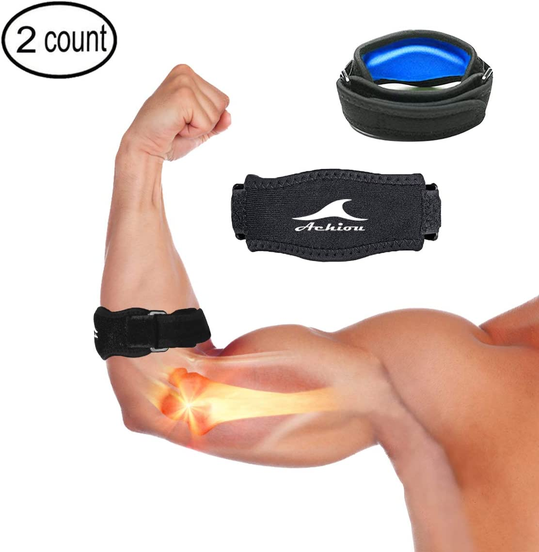 Workouts Fine Elbow Brace Compression Support,Elbow Sleeve for Tendonitis Tennis Elbow Brace and Golfers Elbow Treatment Arthritis Reduce Elbow Pain Weightlifting