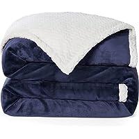 RATEL Mantas para Sofa Azul Marino 150×200cm, Mantas para Cama Mejorada 420GSM, Manta de Microfibra 100% Supersuave…