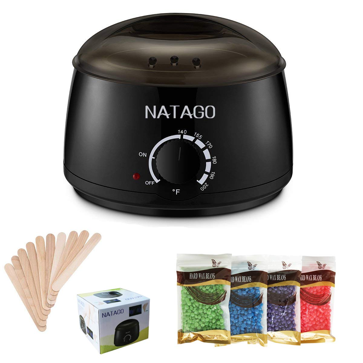 Amazon Com Natago Wax Warmer Hair Removal Waxing Kit For Women