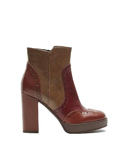 POI Lei - Zapatos de Mujer budape ster Botines Agata marrón Botines Bloque tacón Piel Lisa, Color Marrón, Talla 35 EU: Amazon.es: Zapatos y complementos