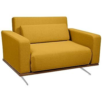 Sessel Senfgelb schlafsessel senfgelb designer sessel mit schlaffunktion amazon de