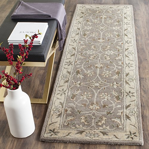 (Safavieh Heritage Collection HG863A Handcrafted Traditional Oriental Grey and Beige Wool Runner (2'3