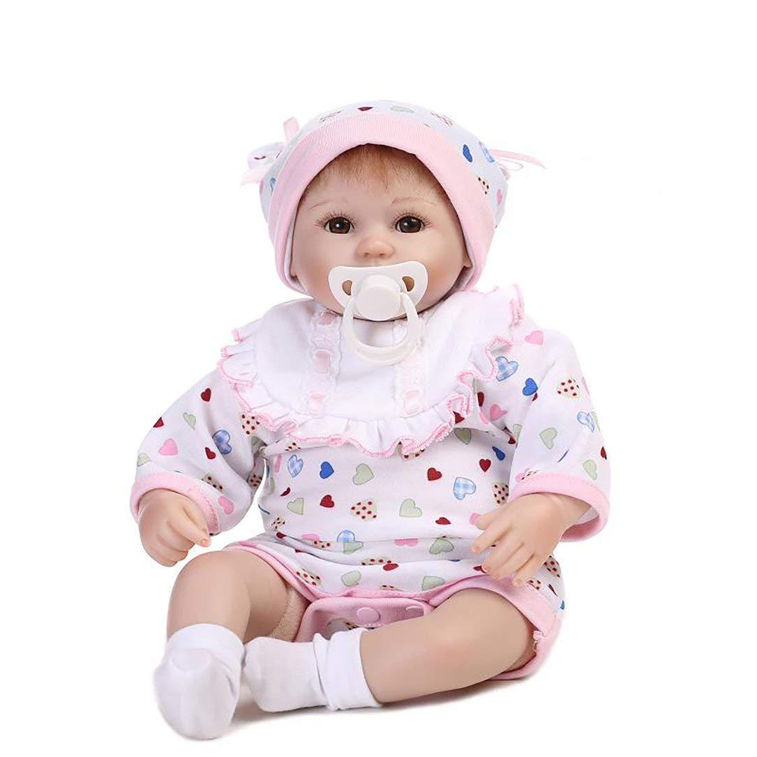16 16 16 Zoll Open Eyes Silikon Reborn-Baby-Puppe spielt mit Milchflasche Luxuxzubehör Princess Puppen reizendes a8855b