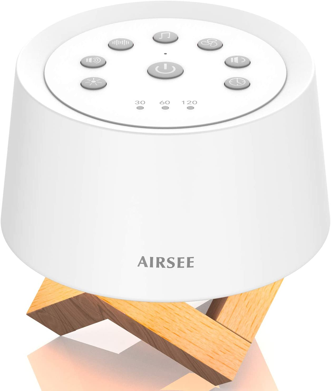 AIRSEE Sound Machine & Night Light, Rechargeable White Noise Machine with 31 Soothing Sounds for Sleeping, Breathing Lamp & Memory Feature, Sleep Sound Noise for Home and Travel (Upgraded)