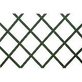 VERDELOOK Traliccio Estensibile in plastica Verde Dimensioni 100x100 cm, Decorazioni terrazza