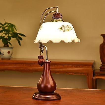 Lampada Da Tavolo Retro Lampada Da Comodino In Legno Massello