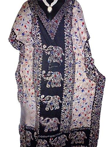 Plus Size Elephant Print kaftan,Long length Caftan dress Boho Gown (Elephant Kaftan)