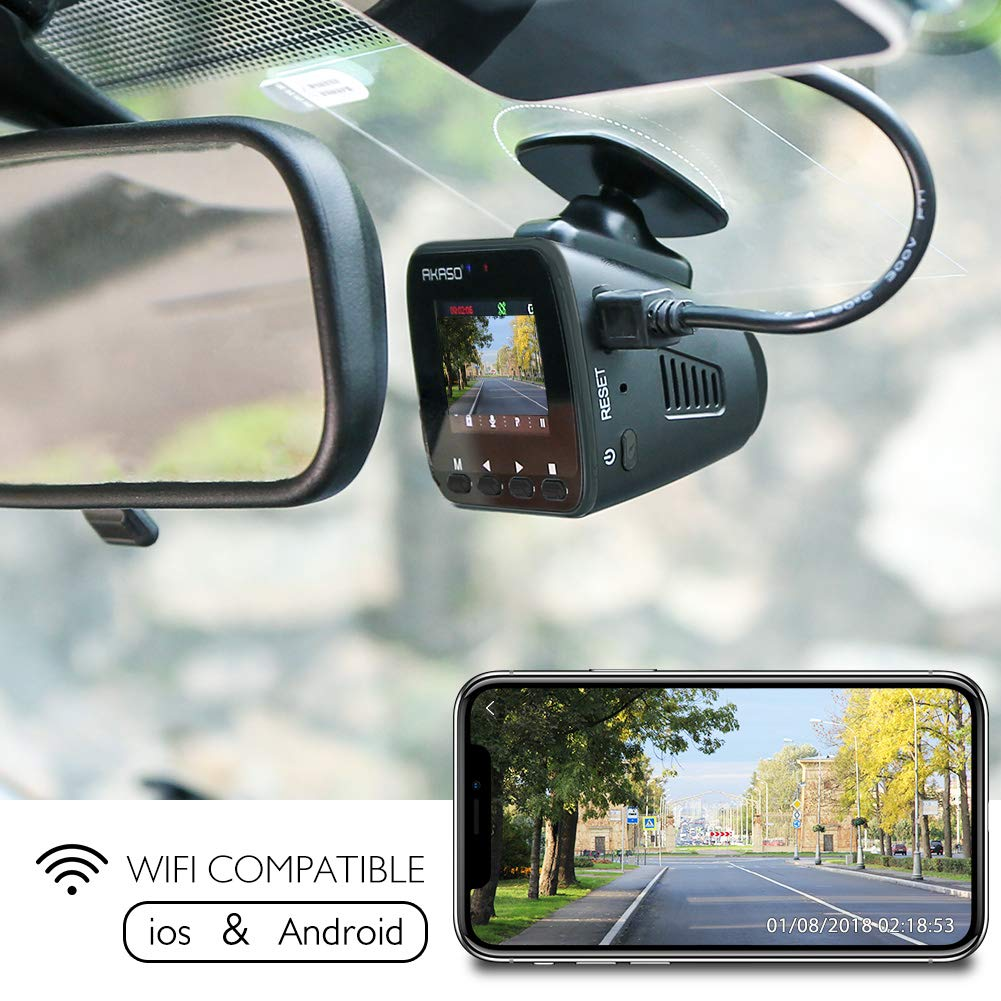 Dash-Cam-Dashboard-Recording-Camera-AKASO-V1-Car-Recorder-1296P-FHD-GPS-G-Sensor-WiFi-with-Phone-APP-Night-Vision-Loop-Record-Parking-Monitor-170Wide-Angle-with-16GB-Card