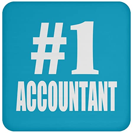 Number One #1 Accountant - Drink Coaster Turquoise Posavasos ...