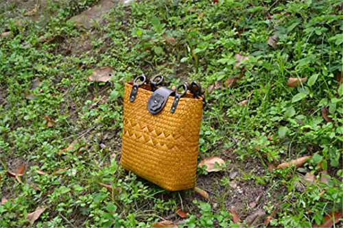 Retro Bs03kafei Beach Single Chen Bs03huang Handmade Women's Straw Ethnic Chen Nei Bag Style Thai Nei Rattan Bag Bag Straw Casual H4wwTOIq