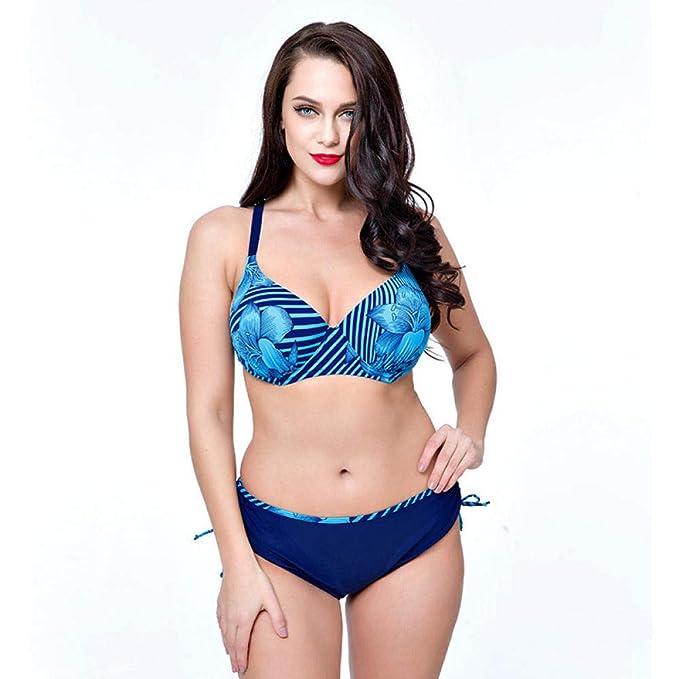 AIWOSUOAI Traje de baño Bikini Split Talla Grande Plus ...