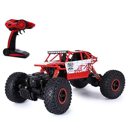 SKM 2.4GHz 1:18 Coche RC Radiocontrol Teledirigido Escalada Camión de Juguete 4WD Roca