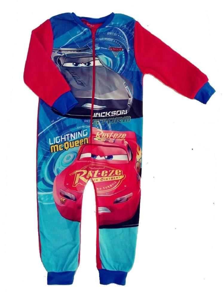 Boys Fleece Character Onesie Pyjamas Kids Childrens All in One Sleepsuit PJ's Size 18 Months 2 3 4 5 6 7 8 9 10 Years