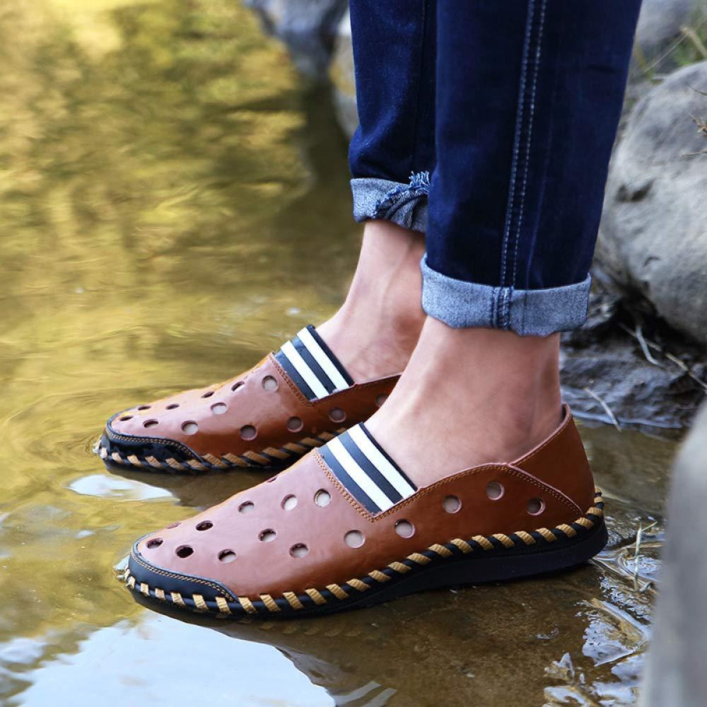 Männer Loch Schuhe Sommer Sandalen Strand Schuhe Atmungsaktiv Lässig Sandalen Sommer Braun a980d7