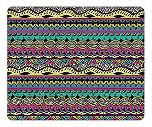 Aztec Brown Pattern Vibe Mouse Pad Rectangle by Cases & Mousepads