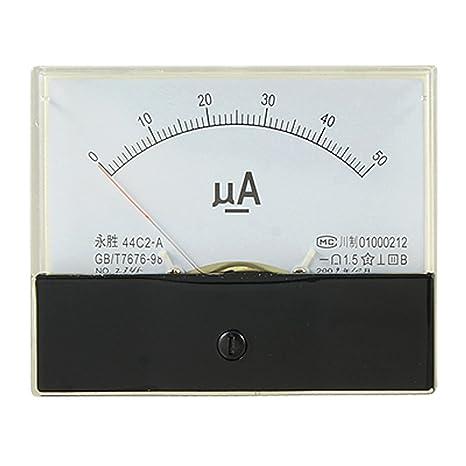 DC 0-50uA báscula de calibre de corriente con pantalla baritina