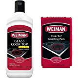 Weiman Cooktop Cleaner and 3 Scrubbing Pads - 12 Ounce - Best Cleaning Kit for Smooth Top Ranges, Glass ,Ceramic Stoves. Non-abrasive, Scratch-Free Scrubbing Pads With Premium Cream Formula