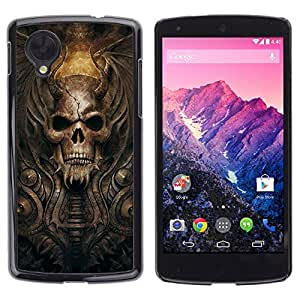 Impact Case Cover with Art Pattern Designs FOR LG Nexus 5 D820 D821 Goth Demon Skull Betty shop