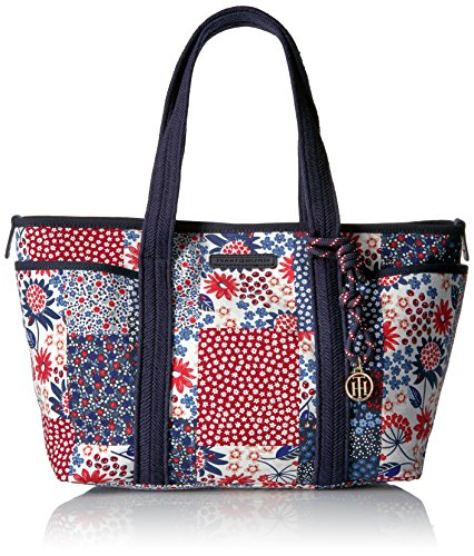 Tommy Hilfiger Tote Bag for Women Dariana, Red/Multi