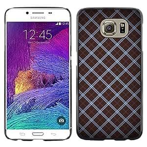 KOKO CASE / Samsung Galaxy S6 SM-G920 / modelo del papel pintado rayas diseño aleatorio / Delgado Negro Plástico caso cubierta Shell Armor Funda Case Cover