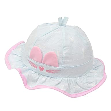 391b3c81752c Fille Bébé Bob Chapeau en Coton Anti-Soleil Respirant Anti UV pour 6 ...