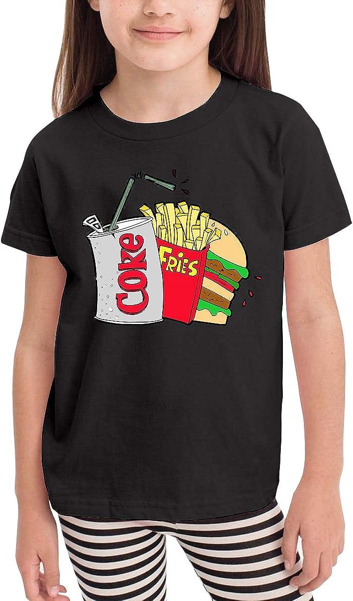 Boys Kids Girls T-Shirt Novelty Short Sleeve Junk Food and A Diet Coke Summer Short Sleeve Crewneck Tees