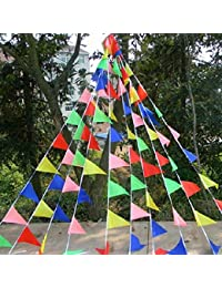 Win 1 Piece 22M Outdoor Rainbow Bunting Party Flags/Huge Birthday Parties/Market Stalls online