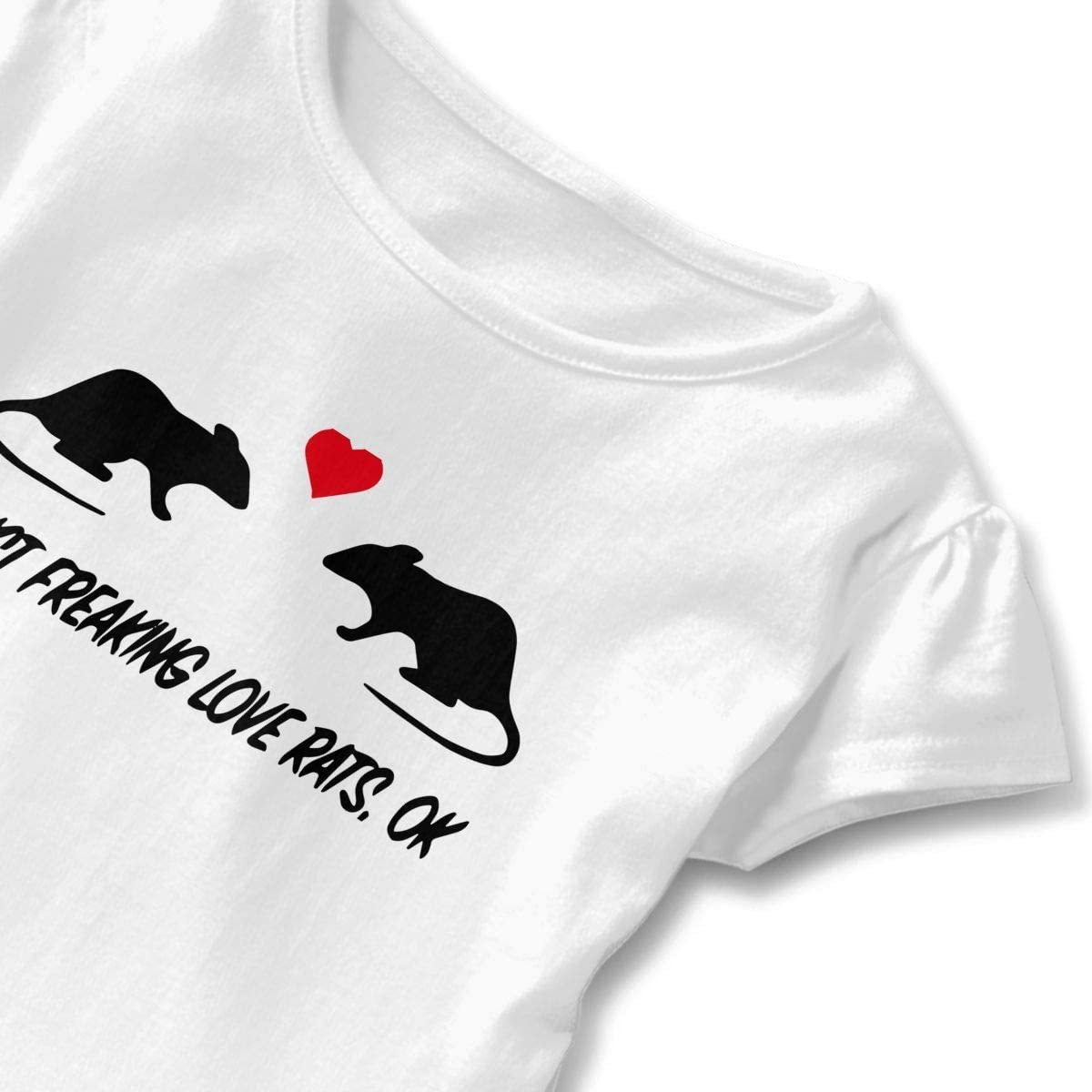 Toddler Baby Girl Ok I Just Freaking Love Rats Funny Short Sleeve Cotton T Shirts Basic Tops Tee Clothes