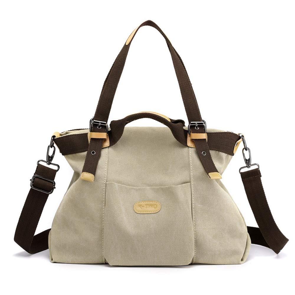 Ysswjzz Påsar väska, kvinnors kanvas axelväskor stor kapacitet shoppingväska för dagligt arbete G