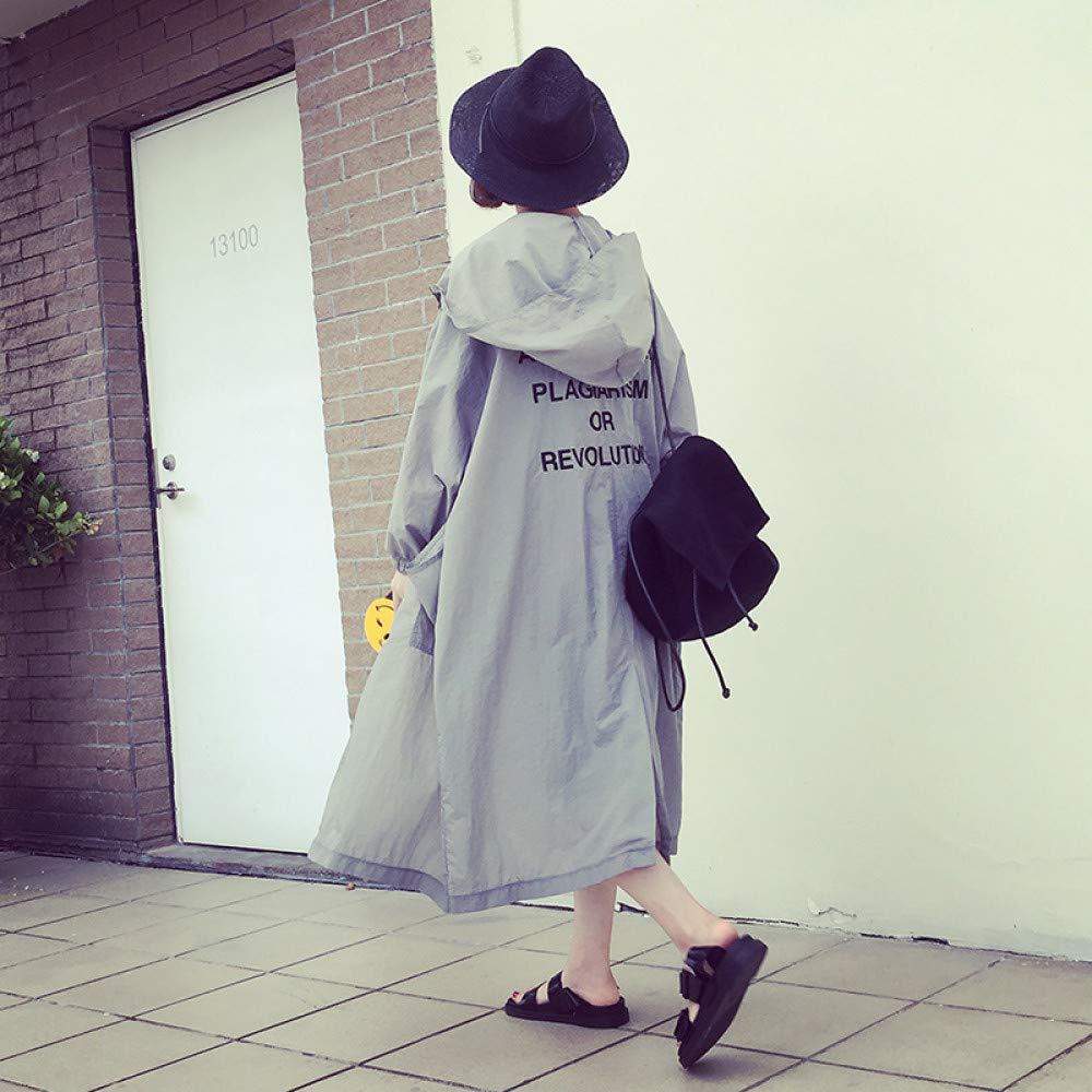 SUIFENG@ Frauen Trenchcoat Frühling und Sommer Koreanische Studenten Wilden Windbreaker Dünnen Mantel In Den Langen Absatz Große Größe Lose Sonnenschutz Kleidung Frauen