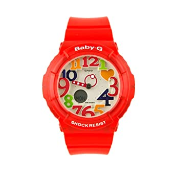 07ba41138620 Image Unavailable. Image not available for. Color: Casio Women's BGA131-4B  Baby-G Marine Resort Red Digital Watch