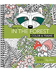 Color & Frame - In the Forest (Adult Coloring Book)