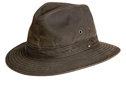Amazon.com  Conner Hats Men s Indy Jones Water Resistant Cotton Hat ... 6ed0d00c1f58