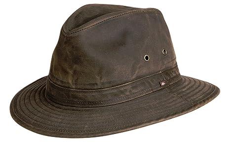d6e8008544e Amazon.com  Conner Hats Men s Indy Jones Water Resistant Cotton Hat ...