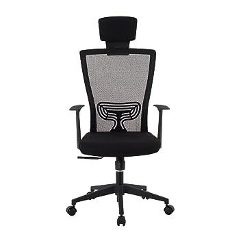 Bürostuhl ergonomisch höhenverstellbar  LANGRIA Schreibtischstuhl Höhenverstellbar Netz-Rücklehne ...