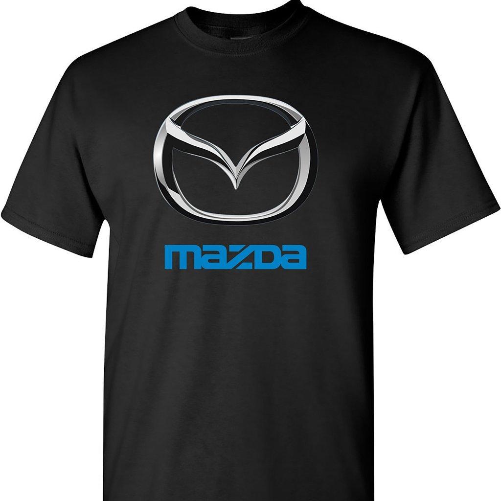 Mazda Chrome Logo T Shirt, Black, Large