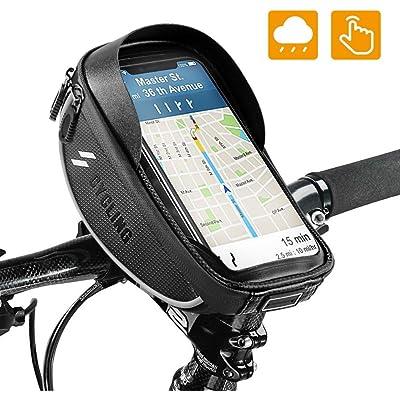 runhua Bolsa Bicicleta Manillar, Soporte Movil Bicicleta con Pantalla Táctil Sensible, Bolsa Telefono Bicicleta para Teléfono Inteligente por Debajo de 6,5 Pulgadas