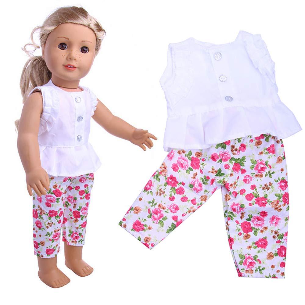 MCYs Kleidung Kleiderschrank Kleidung Kleid fü r 18 Zoll American Boy Puppe Zubehö r Mä dchen Spielzeug