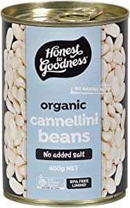 Honest to Goodness Organic Cannellini Beans - BPA Free (Cooked), 400g