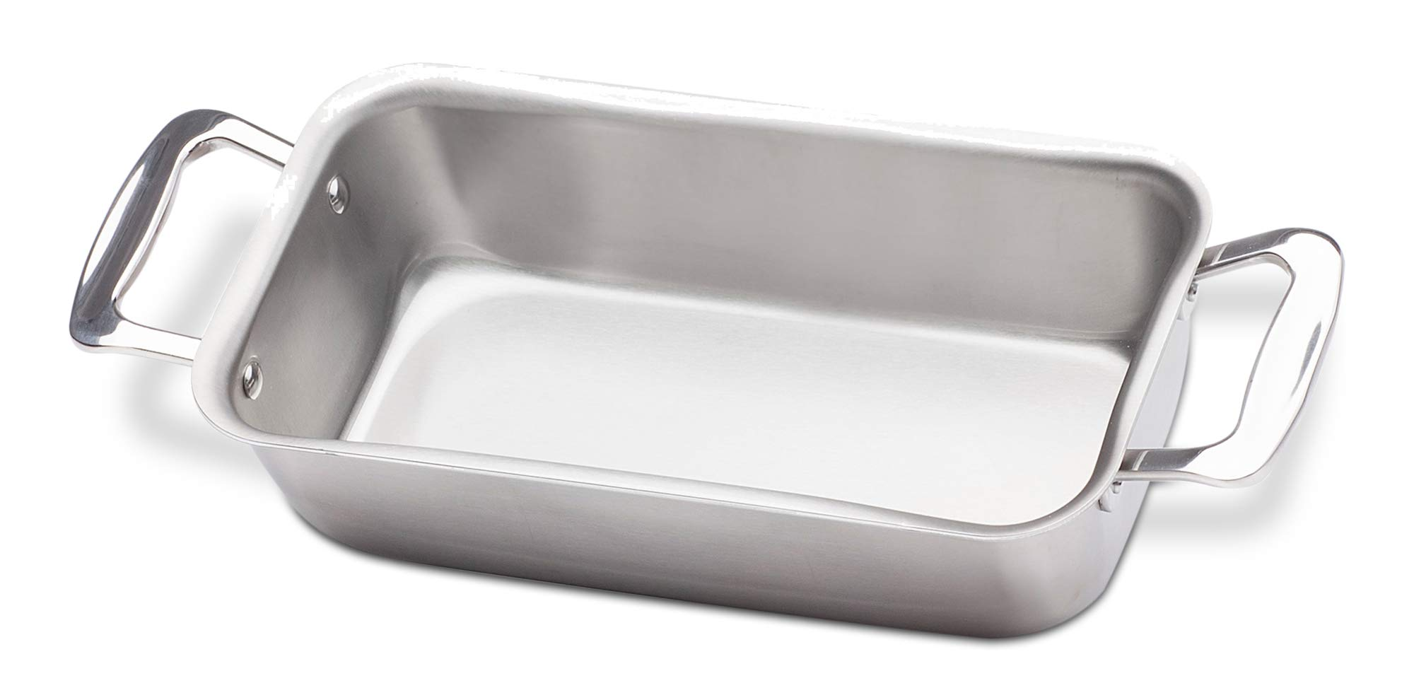 360 Stainless Steel Loaf Pan, Handcrafted in the USA, 5 Ply, Surgical Grade Stainless Bakeware, Dishwasher Safe, Professional Grade, Use as Baking Pan, Roasting Pan  (11''x6''x3'')