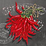 Ideal Home Range 20 Count Fresh Chili Paper Cocktail Napkins