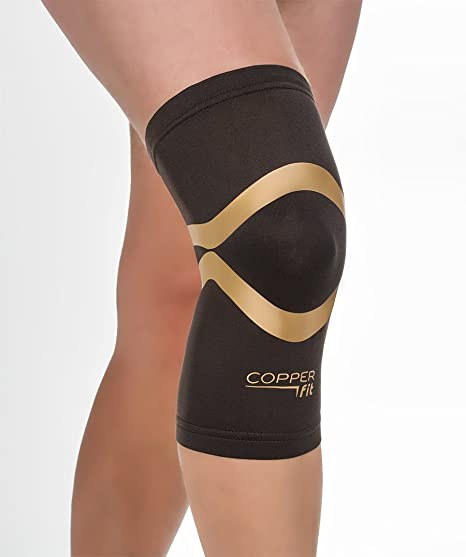 a698f5dac9 Copper Fit Pro Series Compression Knee Sleeve, Black with Copper Trim,  Medium